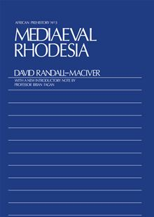 Image for Mediaeval Rhodesia (African Prehistory No 3)