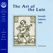 Image for Joseph Ladone :The Art of the Lute Audio Music CD