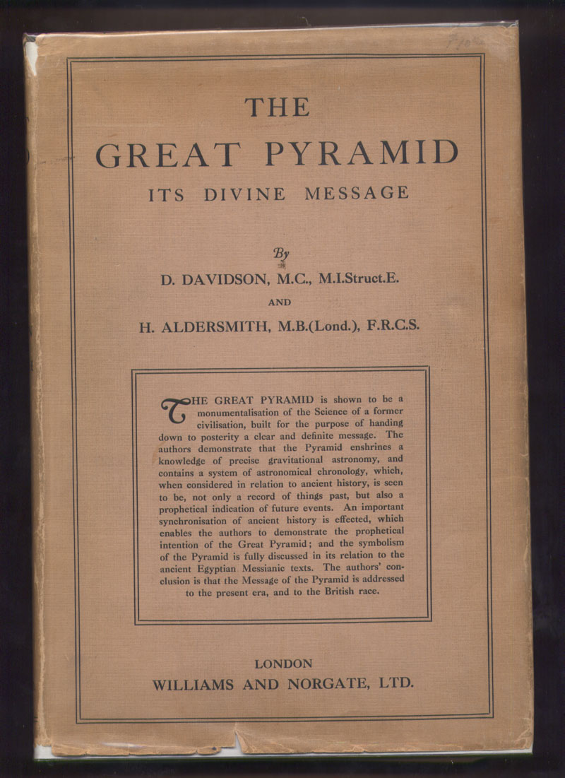 Image for The Great Pyramid Its Divine Message