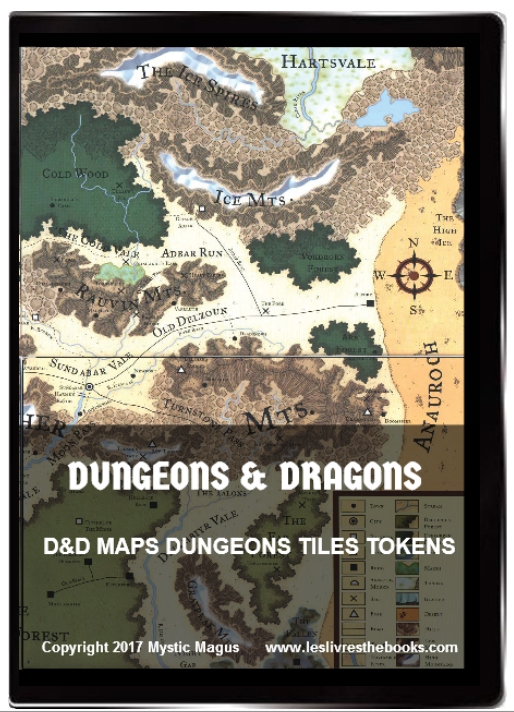 Image for Dungeons And Dragons, / D&D, / RPG, / Dungeon Master, / Maps, / Dungeons, / Dungeons Tiles, / Monster Tokens, / Books on DVD / With DVD Case