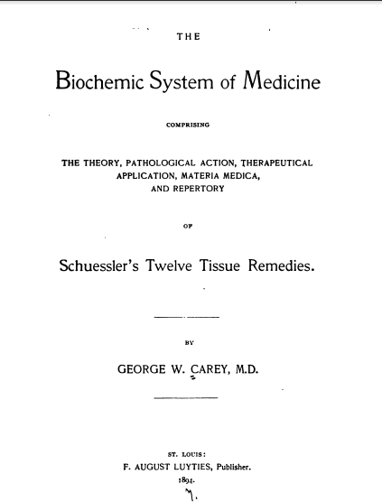 Image for George W. Carey: 8 E-books eBooks on CD: Biochemic System Of Medicine, God Man; The Word Made Flesh, AntiChrist, Chemistry Of Human Life, Tree Of Life, Wonders Of The Human Body, Zodiac And The Salts Of Salvation, Transmutation