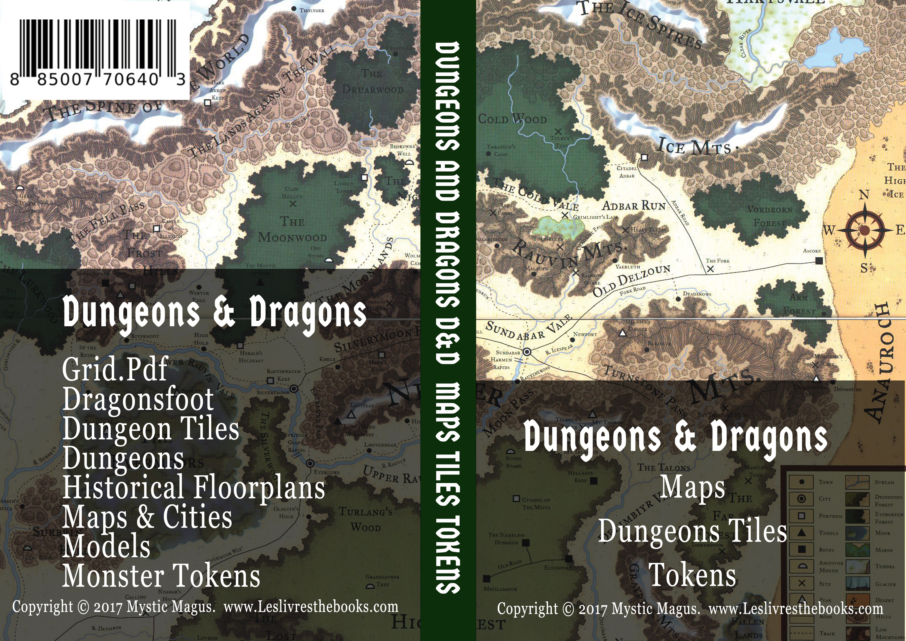 Image for Dungeons And Dragons, / D&D, / RPG, / Dungeon Master, / Maps, / Dungeons, / Dungeons Tiles, / Monster Tokens, / Books on USB Flash Drive / With DVD Case