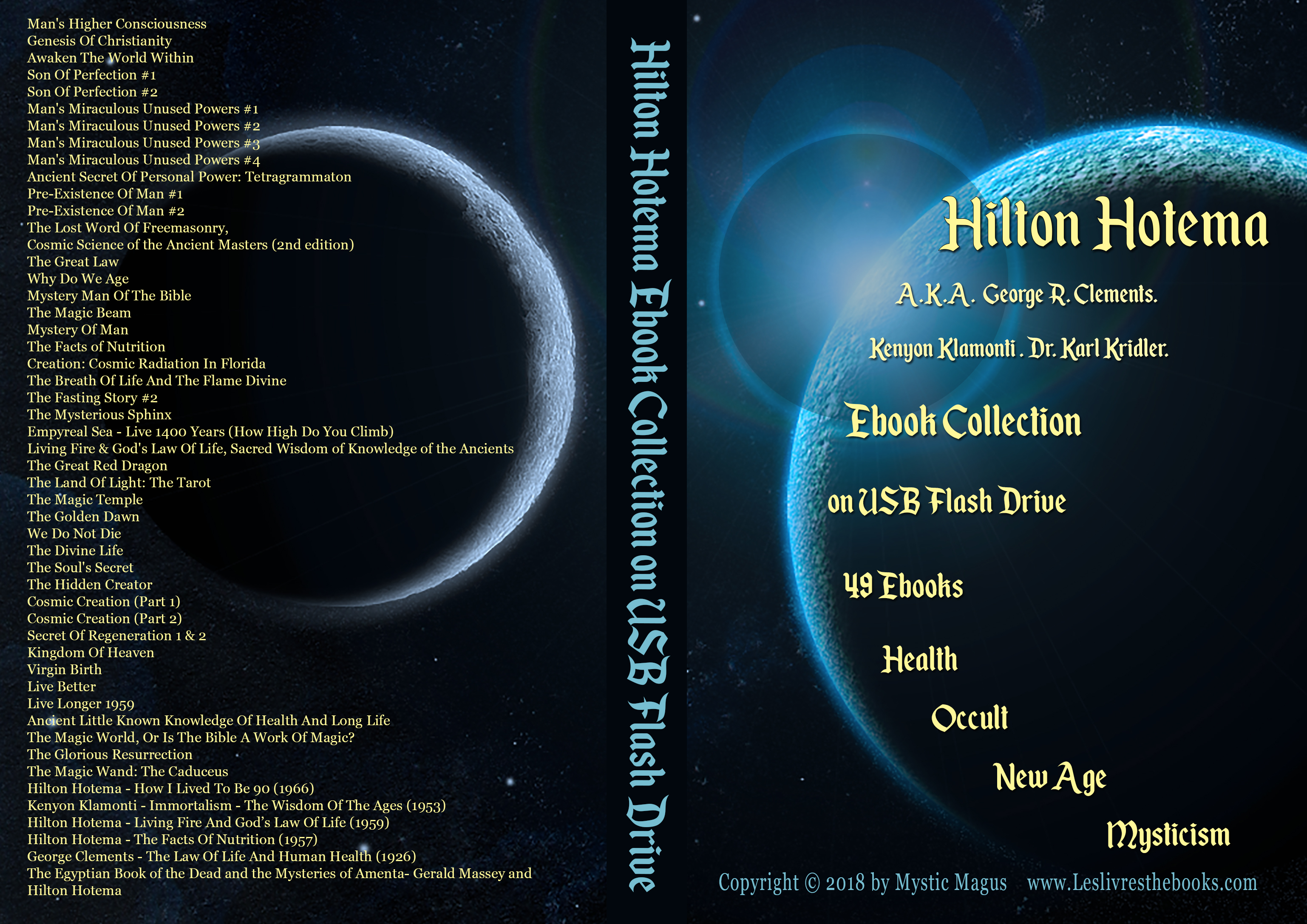 Image for Hilton Hotema Collection 49 EBooks On USB Flash Drive. Man's Higher Consciousness, Why Do We Age, Magic Wand: The Caduceus,  Facts of Nutrition, Tetragrammaton, Golden Dawn, and many more! Occult, Esoteric, Health, Mystic, Philosophy, New Age, Metaphysics