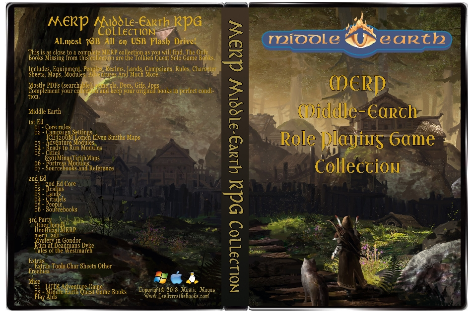 Image for MERP: Middle-Earth Role Playing. Complete Collection, Lot, Set. All the books for the Middle Earth Roleplaying Game Plus many extras. All on a USB Flash drive.